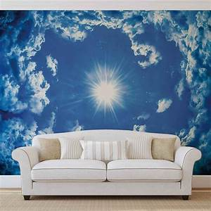 Poster Mural Nature : sky clouds sun nature wall paper mural buy at europosters ~ Teatrodelosmanantiales.com Idées de Décoration