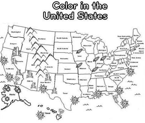 united states map coloring page federalgrantsource
