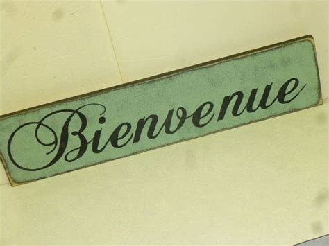 FRENCH WELCOME SIGN / bienvenue sign / hand painted sign ...