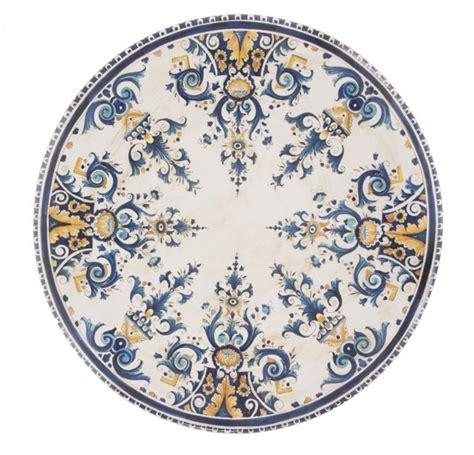 Ladari Ferro Battuto E Ceramica by Tavoli In Ceramica Dipinti A Mano E Ferro Battuto La Chimera