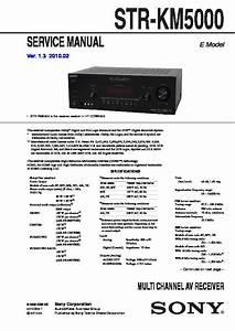 Sony Ht-ddw5000  Str-km5000 Service Manual