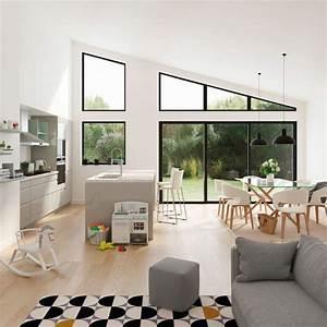 cuisine ouverte sur salon 20 exemples inspirants cote With attractive plan de maison moderne 10 deco salon et cuisine ouverte