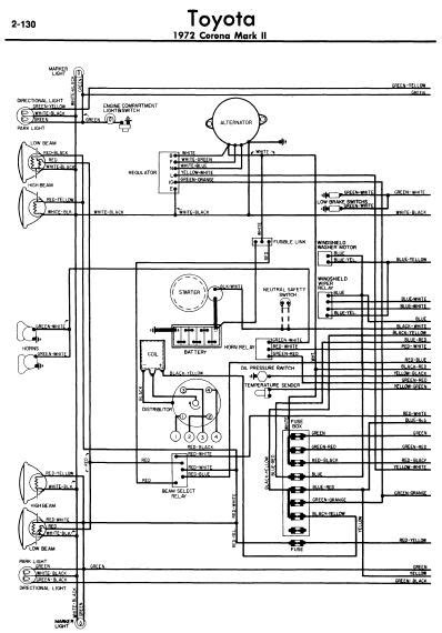 repair manuals toyota corona ii 1972 wiring diagrams