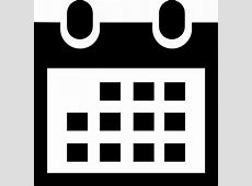Calendar icon in black Icons Free Download