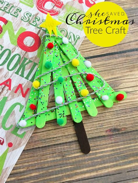 simple popsicle christmas tree craft project she saved