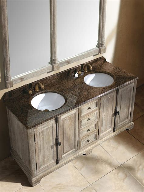 castelli double sink vanity driftwood transitional
