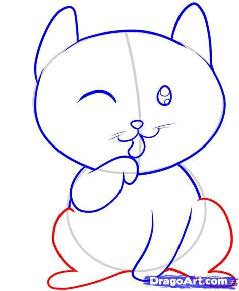 draw  cat  kids step  step animals  kids