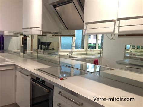 credence cuisine miroir crédence en miroir