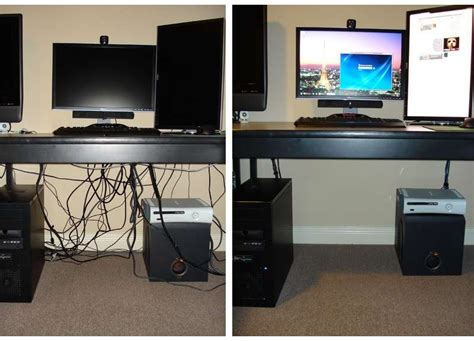desk that hides wires computer cable management on the cheap cord desks and