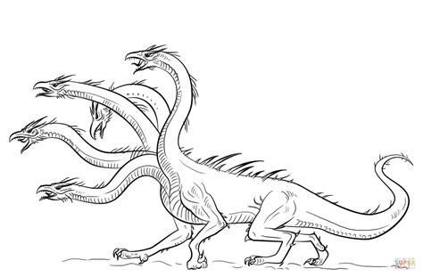 Dibujo De Dragón Hidra Para Colorear  Dibujos Para