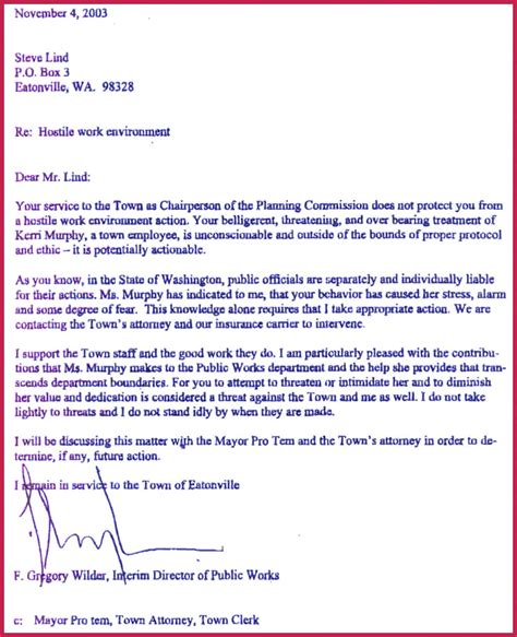 sle complaint letter to human resources about manager hostile workplace complaint letter inviletter co 23200