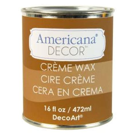 Americana Decor Creme Wax Application by Decoart Americana Decor 16 Oz Light Golden Creme Wax