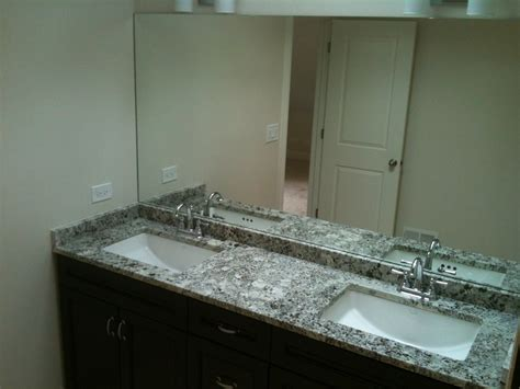 granite countertops with undermount sinks newly finished master bath chocolate double vanity with