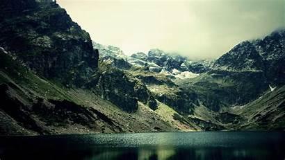 Dark Nature Mountain Lake 1440 2560 Wallpapers