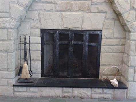 Hand Crafted Custom Fireplace Screen And Fireplace Tools By The Makers Of Hand Forged Iron