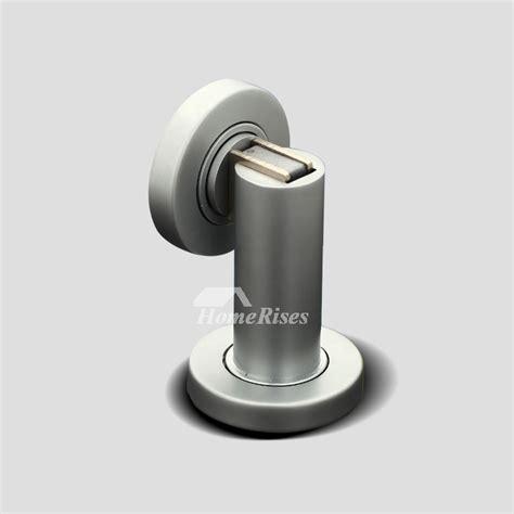 brushed nickel door stop magnetic hidden floor mounted