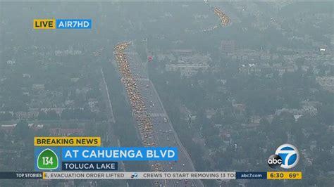 motorcyclist killed   freeway  toluca lake lanes