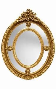 Grand Miroir Baroque : grand miroir baroque ovale dor de style louis xvi ~ Teatrodelosmanantiales.com Idées de Décoration
