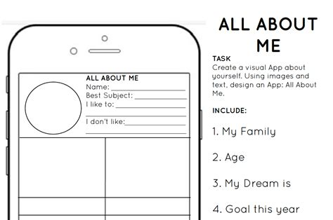 this is me art template all about me template gallery free templates ideas