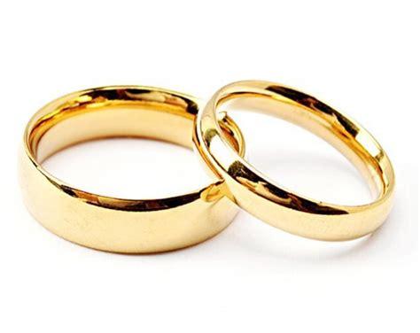 316l Stainless Steel Rings Golden Single Couple Ring