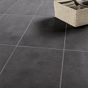 carrelage sol et mur noir effet beton factory l30 x l60 With faux carrelage sol