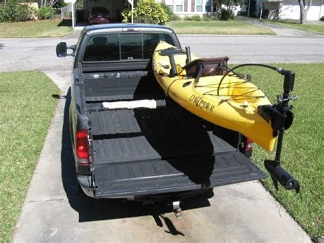 how to build a kayak rack for truck low profile kayak rack for a truck diy part 1