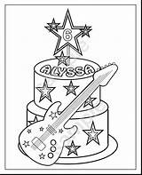 Coloring Rock Star Pages Getcolorings sketch template