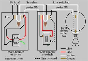 Three Way Switch Wiring Diagram With Dimmer