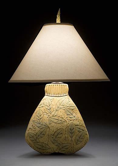 sided bulbous lamp  jim  shirl parmentier ceramic
