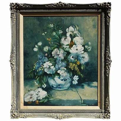 Oil Canvas Floral Still Impressionist Painting Signed