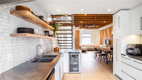 counter height kitchen sets dishy stainless steel floating shelves with open stair brick