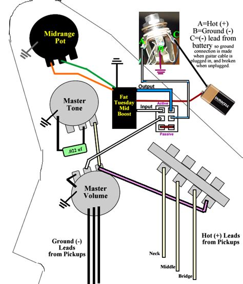 Up Wiring Diagram Active wiring an active passive switch talkbass