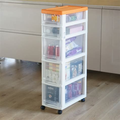 skinny cabinet with drawers 22cm ultra narrow gap narrow belt pulley plastic five