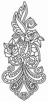 Patterns Coloring Pages Embroidery Adult Designs Rose Urban Threads Unique Awesome Machine Cutwork Bone Stencils Quilling Colouring Sheets Roses Thread sketch template