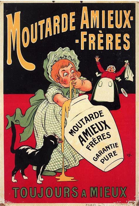 affiche vintage cuisine moutarde amieux affiche litho 1900 food posters