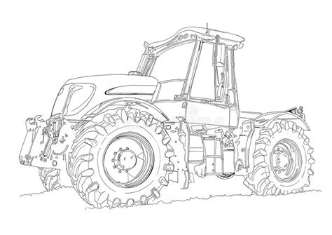 Farming Simulator 2017 Kleurplaat by Agricultural Tractor Illustration Drawing Stock