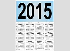 Calendario verticale grafico del 2015