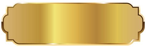 Gold Label Template PNG Picture