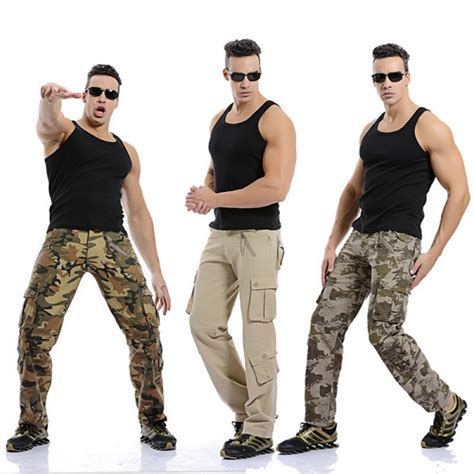 Buy Men Cargo Pants High Quality Camouflage Fashion