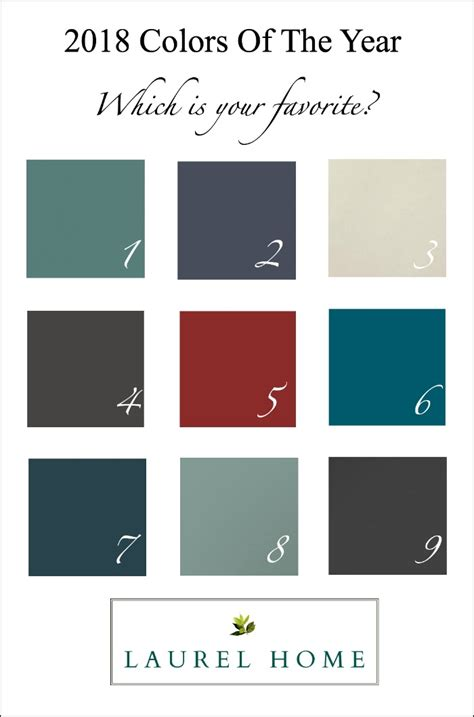 colors of paint my take on the colors of the year and 2018 decorating