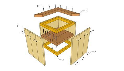 plans easy wooden planter plans  stool designs