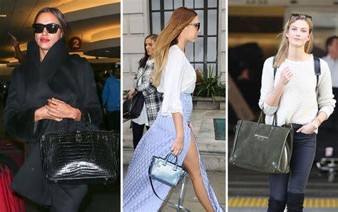 uk celebs carry   bags  london fashion week  celebs   hang   lax