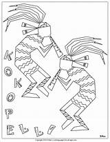 Coloring Pages Kokopelli Native American Symbols Printable Indian Adult Colouring Pottery Hopi Southwest Books Pueblo Mac Getcolorings Nm Sherimcclurepitler Designs sketch template