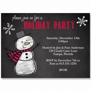 Wedding Invite Format Snowman On Chalkboard Holiday Party Invitation The