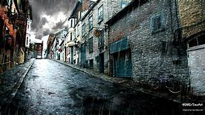 Rainy Street Full HD Wallpaper and Background Image ...