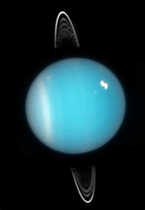 uranus   bright  spot picture shows