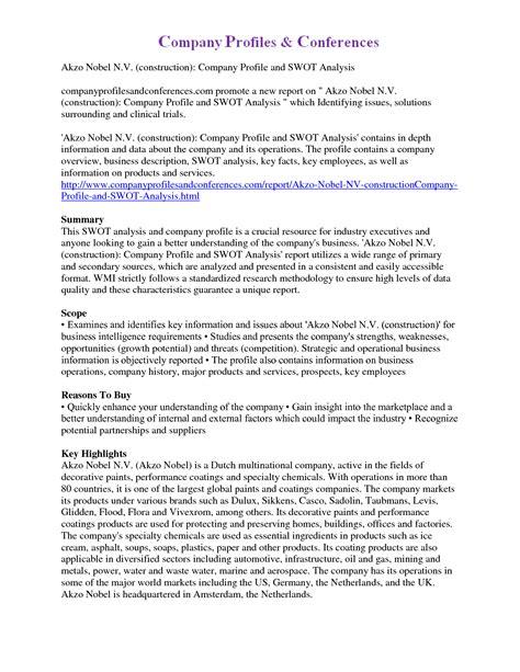 14 company profile exle exle college resume