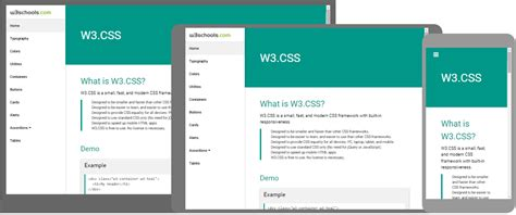 w3 css w3 css home
