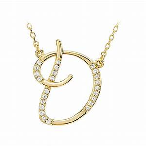 diamond initial necklace on shoppinder With diamond letter d