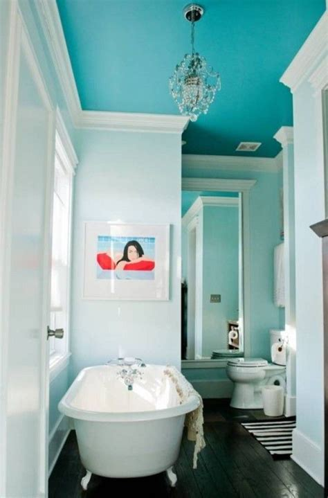 best 25 bathroom ceiling paint ideas on blue